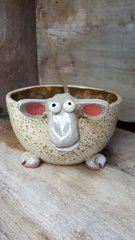 Dotted sheep yarn bowl