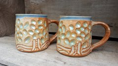 Craved tree mugs