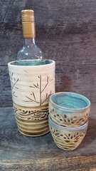 Branch wine cooler and cups