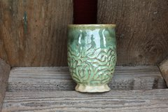 Carved Green Goblet #2