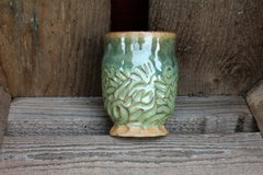 Carved Green Goblet #3
