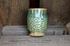 Carved Green Goblet #3