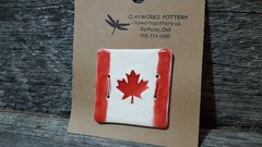 Maple leaf button #3