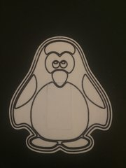 Penguin Design Silly Patch