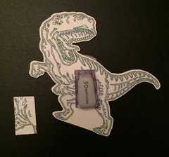 T-Rex Dinosaur Design Silly Patch