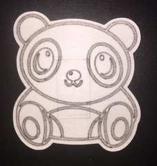 Panda Design Silly Patch