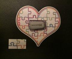 Heart of Autism Design Dexcom® Sensor Silly Patch
