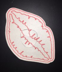 Kiss Lips Design Animas® Insulin Pump Infusion Site Silly Patch