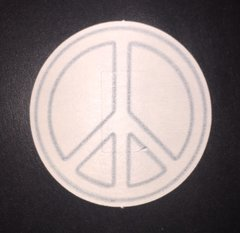 Peace Sign Design Silly Patch