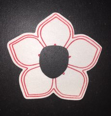 Flower Design Animas® Insulin Pump Infusion Site Silly Patch