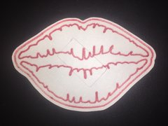 Kiss Lips Design Silly Patch