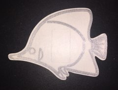Angel Fish Design Silly Patch