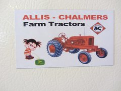 ALLIS CHALMERS FARM TRACTORS Fridge/toolbox magnet