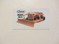 CLETRAC AG-6 Fridge/toolbox magnet