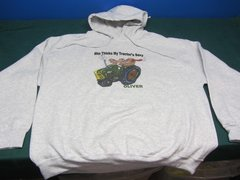 "OLIVER ""SHE THINKS MY TRACTOR'S SEXY"" HOODED SWEATSHIRT"