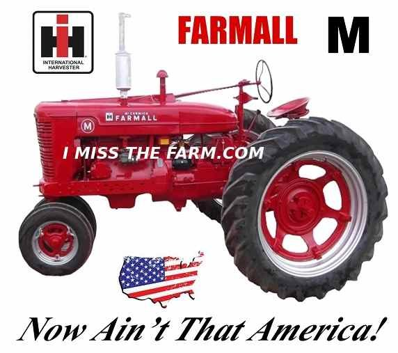 Co Op Tractor Pulling T Shirt : Farmall m quot now ain t that america tee shirt ih farm