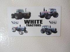 WHITE FARM TRACTORS Fridge/toolbox magnet