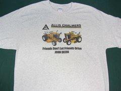 "ALLIS CHALMERS L&G ""FRIENDS DON'T LET FRIENDS DRIVE JD"" (image #2) tee shirt"