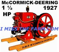 McCORMICK DEERING ENGINE COFFEE MUG