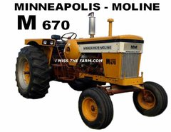 MINNEAPOLIS MOLINE M670 LP TEE SHIRT