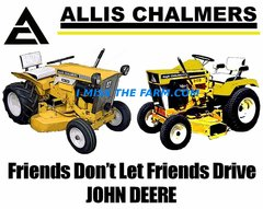 "ALLIS CHALMERS L&G ""FRIENDS DON'T LET FRIENDS DRIVE JD"" (image #2) tee shirt"