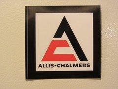 ALLIS CHALMERS TRIANGLE LOGO Bumper sticker
