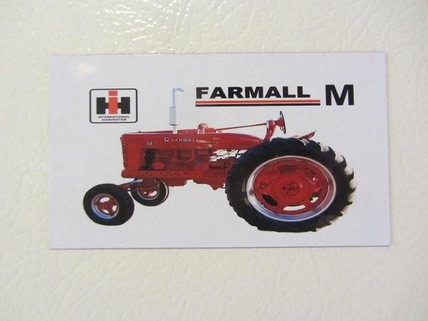 Farmall M Decal : Farmall m wf fridge toolbox magnet international harvestor