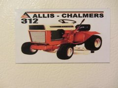ALLIS CHALMERS 312 Fridge/toolbox magnet