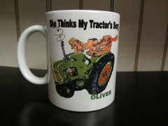 "OLIVER ""SHE THINKS MY TRACTOR'S SEXY"" COFFEE MUG"