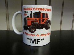 "MASSEY FERGUSON 1155 ""MY TRACTOR IS ONE BAD MF"" (IMAGE #2)COFFEE MUG"