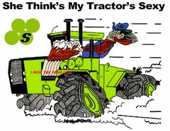 """STEIGER """"SHE THINKS MY TRACTOR'S SEXY"""" TEE SHIRT"""