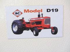 ALLIS CHALMERS D19 Fridge/toolbox magnet