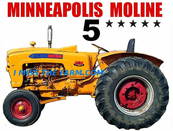 Minneapolis Moline Decals : Minneapolis moline star tee shirt tractor farm