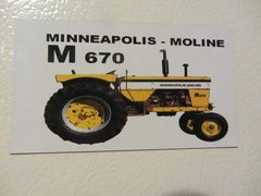 MINNEAPOLIS MOLINE M-670 Fridge/toolbox magnet