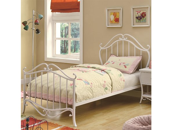 twin metal bed 400521t - Twin Iron Bed Frame