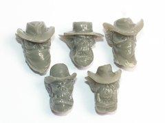 Wild West Cowboy Orc Heads x 5