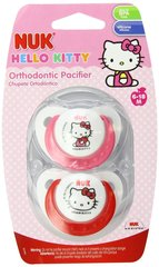 Nuk Orthodontic Pacifiers 6-18 Mo Hello Kitty Girl BPA Free