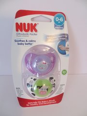 Nuk Pacifiers 0-6 mo Orthodontic Pacifiers Girl Lamb + Cow Cute as a Button BPA Free