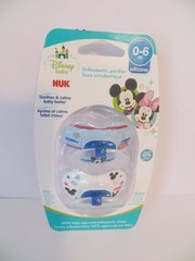 Nuk Orthodontic Pacifiers Boy 0-6 Mo Disney Mickey Mouse Blue Boy