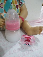 Baby Alive Bottle and My Baby Alive Pacifier Pink Disney Minnie Set - Magnetic