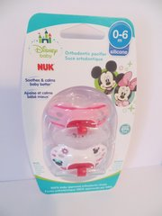 Nuk Orthodontic Pacifiers 0-6 Mo Disney Minnie Mouse Pink Girl