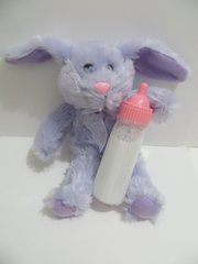 Disappearing Magic Milk Juice Baby Doll Bottle + Purple Bunny Pretend Play