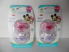 Nuk Orthodontic Pacifiers Girl 6-18 Mo Disney Minnie Mouse Pink Nuk Pacifiers