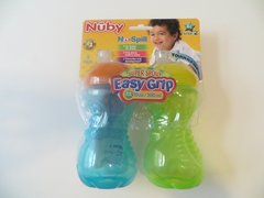 Nuby Sippy Gripper Cups 10oz Easy Grip 2 Pack Unisex 6mo+ Step 2