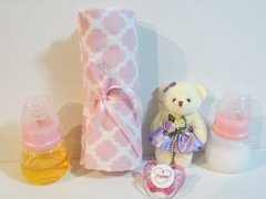 2 Reborn DOLL Bottles Purple Pink Set Fake Milk Juice 5oz Prop No Hole Nipple SET