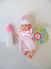 Baby Doll 1 Mini Toysmith Baby Doll Caucasian (Outfits will Vary) Plus Disappearing Milk Baby Doll Bottle Ages 3yrs +