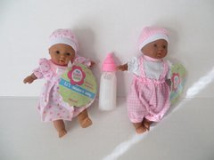 Baby Dolls 2 Mini Toysmith Baby Dolls African American (Outfits will Vary) Plus Disappearing Milk Baby Doll Bottle Ages 3yrs +