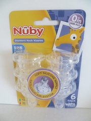 Nuby Nipples - Replacements for Standard Neck Baby Bottles - 0+mo 6 Pack