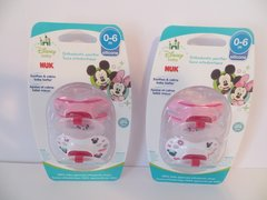 Nuk Orthodontic Pacifiers Girl 0-6 Mo Disney Minnie Mouse Pink 4 Count
