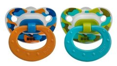Nuk Pacifiers 0-6 mo Orthodontic Pacifiers Boy Camo Orange Blue + Green BPA Free